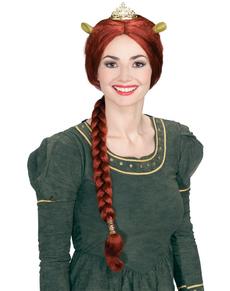 Peluca de Fiona con orejas y tiara Shrek Tercero