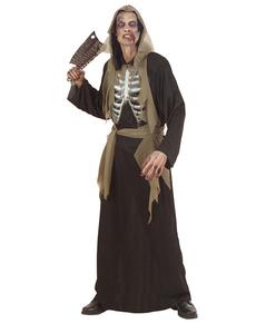 Disfraz de zombie huesudo para hombre