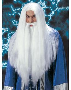 Peluca y barba mago