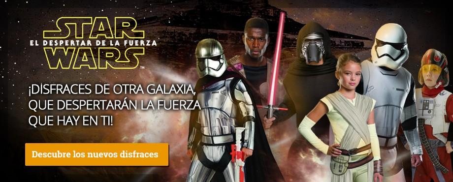 Disfraces Star Wars Episodio 7 el despertar de la fuerza. Compra tu disfraz de La guerra de las galaxias!