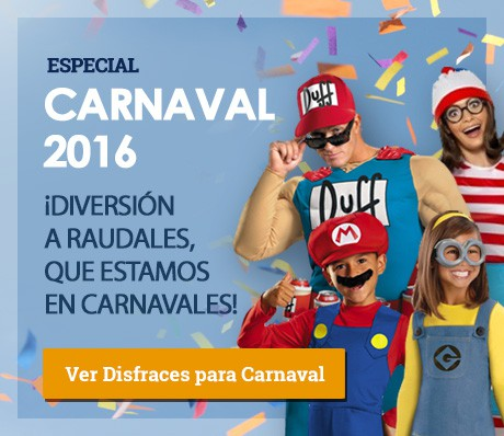 DIsfraces originales Carnaval 2016