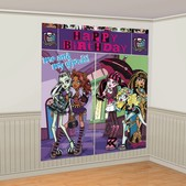 Decoración de pared Feliz Cumpleaños de Monster High