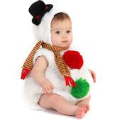 Déguisement de mini bonhomme de neige bébé