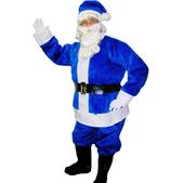 Blaues Weihnachtsmann Kostüm