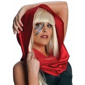 Pañuelo de cabeza rojo Lady Gaga
