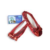 Cubrezapatos con lentejuelas rojas El Mago de Oz adulto