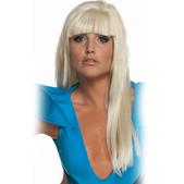 Peluca rubia lisa de Lady Gaga