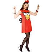 Fato de Angry Birds Vermelho Sexy