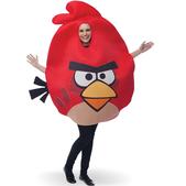 Fato de Angry Birds Vermelho Adulto