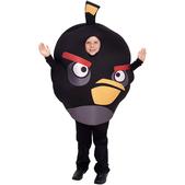 Fato de Angry Birds Preto Infantil