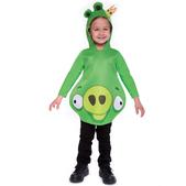 Fato de Angry Birds Rei Porco Infantil