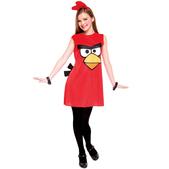 Fato de Angry Birds Vermelho Vestido Infantil