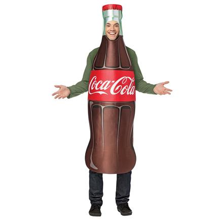 Disfraz de botella de Coca-Cola