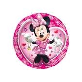 Set de platos grandes rosas Minnie Mouse