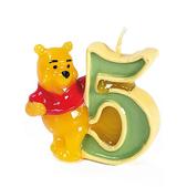 Vela número 5 Winnie the Pooh