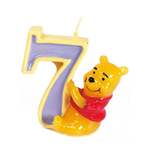 Vela número 7 Winnie the Pooh