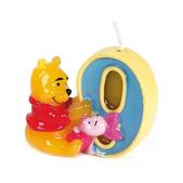 Vela número 9 Winnie the Pooh y Piglet
