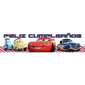 Cartel Feliz cumpleaños Cars