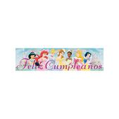 Cartel Feliz cumpleaños Disney Princesas