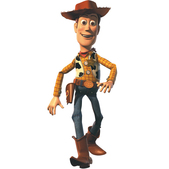 Figura de cartón articulada Woody Toy Story