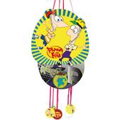 Piñata perfil Phineas y Ferb