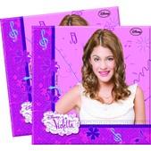 Lot de serviettes Violetta