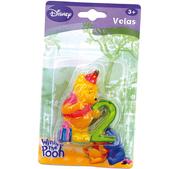 Vela número 2 Winnie the Pooh
