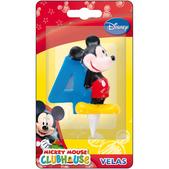 Vela número 4 Mickey Mouse