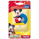 Vela número 8 Mickey Mouse