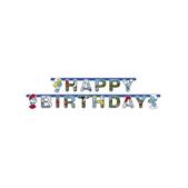 Guirnalda Feliz Cumpleaños Los Pitufos