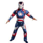 Disfraz de Iron Patriot luminoso para niño
