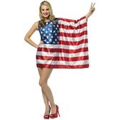 Disfraz de bandera de Estados Unidos para mujer