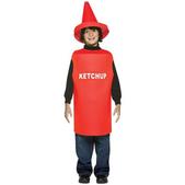 Disfraz de bote de ketchup infantil