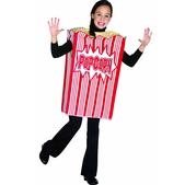 Disfraz de caja de palomitas de maíz infantil