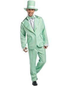 Disfraz de esmoquin verde años 70 para hombre