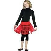 Falda can can roja para niña