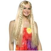 perruque blonde hippie