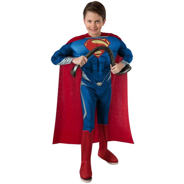 costume superman man of steel muscl enfant en stock car. Black Bedroom Furniture Sets. Home Design Ideas