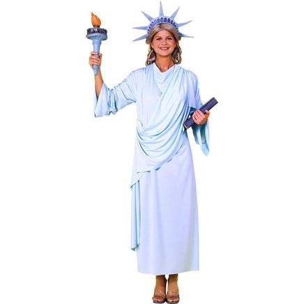 costume de statue de la libert pour femme acheter en ligne sur funidelia. Black Bedroom Furniture Sets. Home Design Ideas