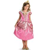Disfraz de Aurora brillante deluxe para niña