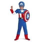 Disfraz de Capitán América musculoso para niño