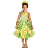 Disfraz de Tiana destello para niña
