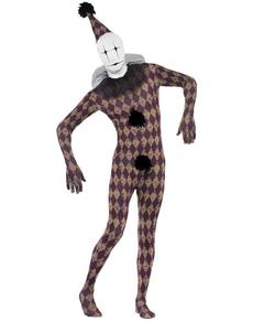 Disfraz de arlequín segunda piel para adulto