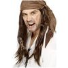 Peluca de pirata bucanero