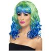 Peluca Divatastic verde y azul