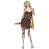 Disfraz de gladiadora zombie