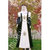 Vestido medieval Blanca: antelina