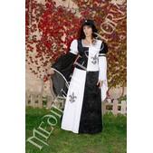Vestido medieval Blanca cuartelado