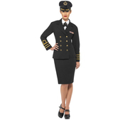 Déguisement d'officier de la marine pour femme
