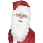 Barba de Pai Natal económica e branca